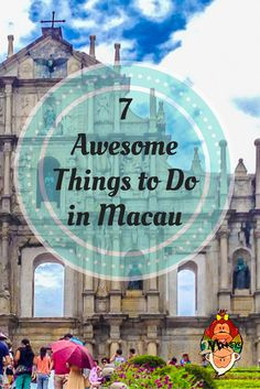 Awesome Things to do in Macau.  Just an hour away from Hong Kong by ferry, Macau…