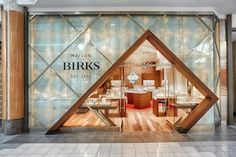 Birks jewelry store storefront photography for mapleview mall burlington ontario ivanhoe cambridge