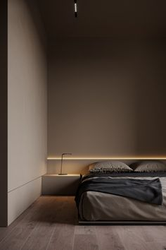 Behance is the world's largest creative network for showcasing and discovering creative work Bedroom Bed Design, Modern Bedroom Decor, Home Room Design, Home Bedroom, Home Interior Design, Interior Architecture, Interior Minimalista, Dark Interiors, Suites