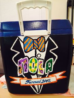 Phi Delt Formal Cooler Theta Delta Chi, Pi Kappa Phi, Tri Delta, Fraternity Formal, Fraternity Coolers, Frat Coolers, Nola Cooler, Formal Cooler Ideas, Cooler Designs