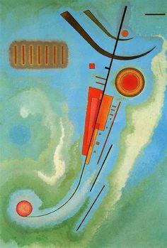 Wassily Kandinsky - 'Léger' (Light) 1930 Centre Georges Pompidou, Paris. L'eau verteNouslava