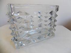Rosice Clear Glass Vase Vladislav Urban Sklo Union Czech Bohemian 1960s Sixties | eBay