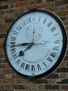 Shepherd Gate Clock at the Royal Observatory in Greenwich.