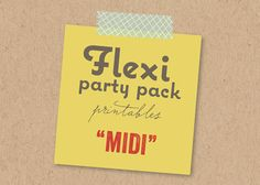 FLEXI MIDI Party Pack | Custom Party Decoration for Grown Up or Kids Birthday, Baby Shower, Bridal Shower, Holiday, Themed | Printable PDF by fatfatin