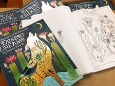 Download a sample page from Desert Dreams: Coloring a Land of Enchantment by Geninne D Zlatkis and share your work with us on Facebook! It just arrived in our office! Wooohoooooo! We're absol…