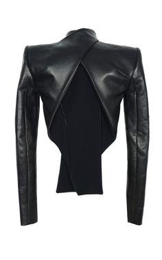 Vertigo Leather Jacket by Dion Lee for Preorder on Moda Operandi Dark Fashion, Leather Fashion, London Fashion, Bouchra Jarrar, Fashion Details, Fashion Design, Dion Lee, Ex Machina, What To Wear
