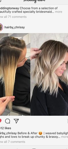 Here's Every Last Bit of Balayage Blonde Hair Color Inspiration You Need. balayage is a freehand painting technique, usually focusing on the top layer of hair, resulting in a more natural and dimensional approach to highlighting. Diy Hairstyles, Pretty Hairstyles, Easy Hairstyle, Short Blond Hairstyles, Blonde Haircuts, Trendy Haircuts, Popular Hairstyles, Wedding Hairstyles, Hair Color Balayage