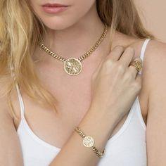 The Last Line Diamond Zodiac Coin Bracelet Diamond Bracelets, Ankle Bracelets, Gold Bangles, Coin Jewelry, Jewelry Bracelets, Gold Jewellery, Jewlery, Bohemian Style Jewelry, Coin Bracelet