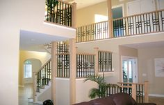 A custom modern metal railing designed, fabricated and installed for a home in Glenview, IL.