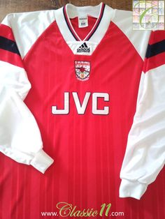Relive Arsenal's 1992/1993 Premier League season with this vintage Adidas home player issue long sleeve football shirt.