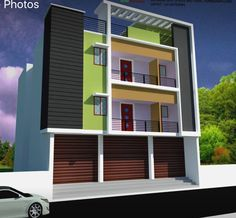 three floor motivational board bungalows floors modern house facades house siding minimalist chic modern architecture - Simple House Design With Second Floor