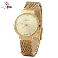 5d8e3488feea8 New Brand Julius Relogio Feminino Clock Women Watch Stainless Steel Watches  Ladies Fashion Casual Watch Quartz