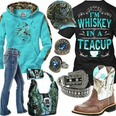 I Need this entire outfit in my life! L oving the Hoodie! Cowgirl Outfits, Camo Outfits, Western Outfits, Casual Outfits, Summer Outfits, Fashion Outfits, Cowgirl Clothing, Cowgirl Fashion, Cowgirl Jewelry