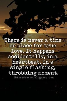 Valentines Quotes : QUOTATION – Image : As the quote says – Description Cute Valentines Day Quotes, There is never a time or place for true love. It happens accidentally, in a heartbeat, in a single flashing, throbbing moment. Valentine's Day Quotes, Love Me Quotes, Romantic Love Quotes, New Quotes, Quote Of The Day, Funny Quotes, Amor Quotes, Friend Quotes, Life Quotes