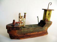 wooden ship by ziggyszeppelin on Etsy