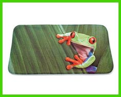 Frog Bath MaFrog Bath Mat Sku: 765023 Tropical design featuring a cheeky tree frog. Anti-slip, rubber coated on underside. Size 45 x Machine washable. Tropical Design, Underfloor Heating, Tree Frogs, Bath Mat, Things To Sell, Home, Bathroom, Big, Garden