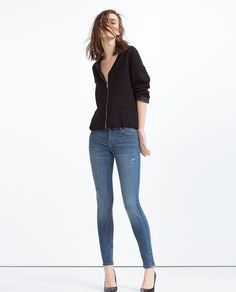 MID-RISE FIVE POCKET TROUSERS-JEANS-Woman-COLLECTION SS16 | ZARA United States