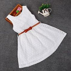 44862905b1a Lace + Belt Dress. Girls Lace DressBaby Girl Dresses ...