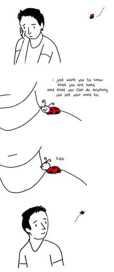 i will think of this every time a ladybug lands on me :)