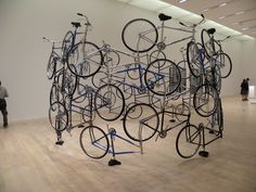 Bike art.  something abstract and deconstructed?  Rhode Island T2 Center