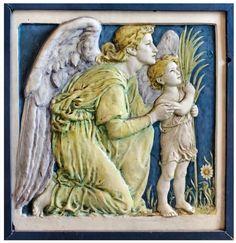 Della Robbia Glazed Pottery Tile