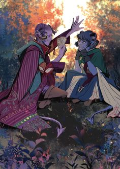 """vicious-mongrel: """"Mollymauk bullshitting Jester is my aesthetic. Or rather Molly bullshitting anyone. My two favorite tieflings from Critical Role. Critical Role Characters, Critical Role Fan Art, Dnd Characters, Character Concept, Character Art, Critical Role Campaign 2, Dungeons And Dragons Memes, Your Turn, Character Design Inspiration"""