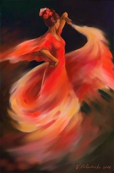 Dancing with passion & fire.