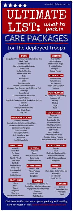 What to Pack in Care Packages for Deployed Troops, Ultimate List, MUST PIN for later | #Militaryspouse, #Military, #Deployment:
