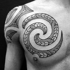 Tristan Maori Chest Spiral Tattoo