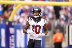 """Harkins: DeAndre Hopkins deserves more from Texans, but has no leverage = Whether he was sending a message or not by not showing up to day one of training camp, DeAndre Hopkins is trying to put all that behind him now after arriving for practice and meeting with the media.  """"I wasn't....."""