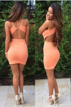 European And American Sexy Halter Dress Slim