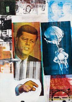 Retroactive II, 1963, by Robert Rauschenberg