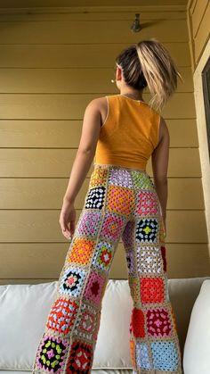 Crochet Pants, Knit Crochet, Crochet Outfits, Hippie Crochet, Crochet Summer, Crochet Tops, Crotchet, Hand Crochet, Crochet Clothes For Women