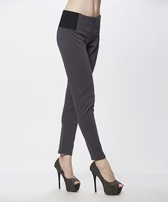 Look at this Simply Couture Gray Leggings on #zulily today!