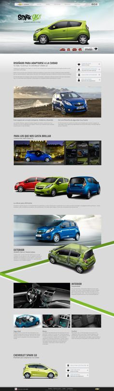 Sitio Chevrolet Costa Rica by Adriana Astua, via Behance