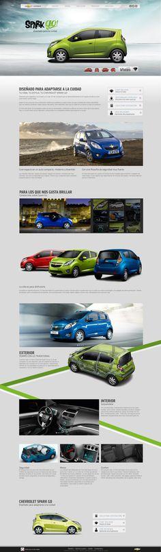 Sitio Chevrolet Costa Rica by Adriana Astua, via Behance