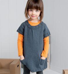 Modèle robe bicolore - Modèles tricot layette - Phildar