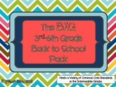The Big 3-6 Back-to-School Pack $8.00