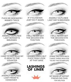 How To Put On Eyeliner Complete Guide to Applying Eyeliner Makeup - Liner Laughs ---- hilarious jokes funny pictures walmart humor fails but bad words