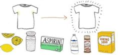 Got a bad sweat stain on the underarms of your light-colored clothing?