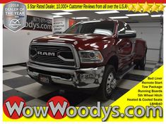 "Wow! This New 2018 RAM 3500 Laramie Longhorn Crew Cab 4x4 is equipped with a 6.7L I6 Cummins Turbo Diesel engine. Top options include 5th Wheel Hitch, Tow Package, Bed Liner, Running Boards, Leather Heated and Cooled Seats, Navigation, Remote Start, Uconnect 8.4"" Media Touch Screen, Backup Camera, Alpine Sound System, and so much more! This RAM 3500 delivers a Intercooled Turbo Diesel I-6 6.7 L/408 engine powering this Automatic transmission. #2018Ram #ram3500 #LaramieLonghorn"
