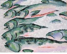 """Robin Rowe, """"Fish Market"""" giclee (For Sale) 32 x 40"""