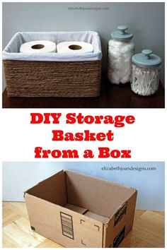 Save your boxes for creating storage with style like this box with a fabric…