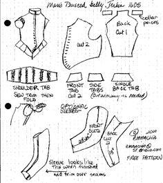 Man's P.Belly doublet Pattern - 832x935px