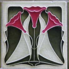 Jugendstilfliese Art Nouveau Tiles, Art Nouveau Design, Arts And Crafts Movement, Azulejos Art Nouveau, Jugendstil Design, William Morris Art, Art Nouveau Architecture, Pottery Designs, Mural Art