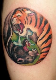 White tiger tattoo tiger tattoo and white tigers on pinterest for Panther tiger tattoo