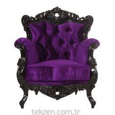3A Mobilya Black And Purple Berjer - Tekzen