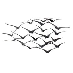 Aspire Home Accents Darla Metal Birds Wall Decor - The brilliantly minimalist Aspire Home Accents Darla Metal Birds Wall Decor features artfully sleek bird shapes made of metal. The design allows your...