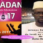 (audio) Jataayu Ramadan Du Lundi 29 mai 2017 Thème bi: (Chaytâné aki Péxêm) Partie 1 (Par Oustaz Makhtar Sarr)