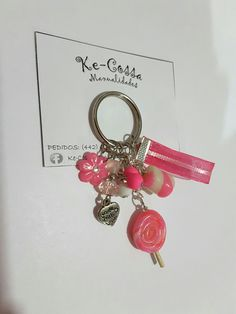 Llavero caramelo rosa